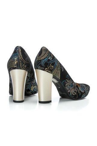 Pantofi Ceren cu imprimeu turcoaz de ocazie