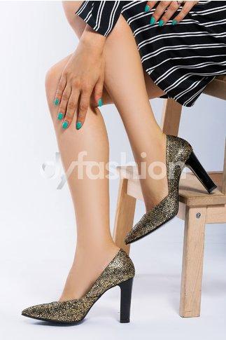 Pantofi Diamante cu paiete si varf ascutit