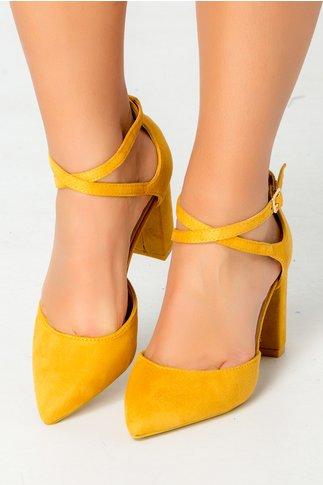 Pantofi Ezzi galben mustar