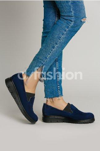 Pantofi Oxford Bleumarin Casual cu Talpa Joasa