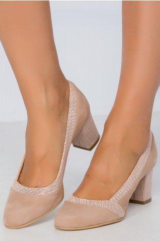 Pantofi Sanda bej cu imprimeu punctat