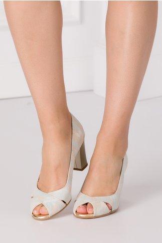 Pantofi sidefati cu imprimeu in degrade