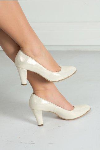 Pantofi Sonora din satin auriu eleganti de ocazie