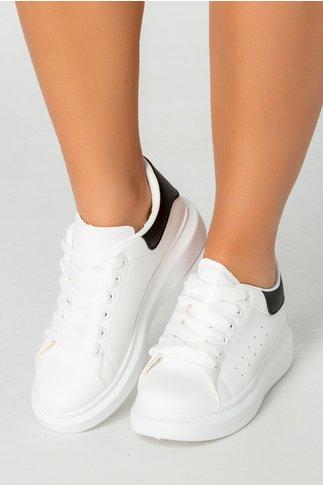 Pantofi sport albi cu detalii negre