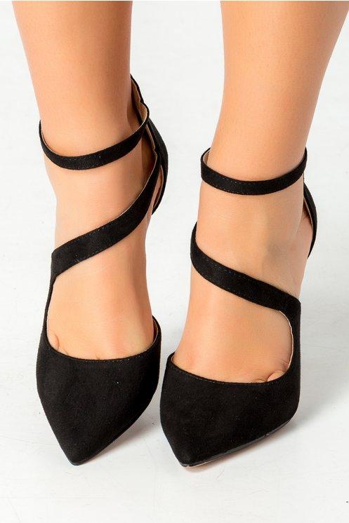 Pantofi Sweet negri