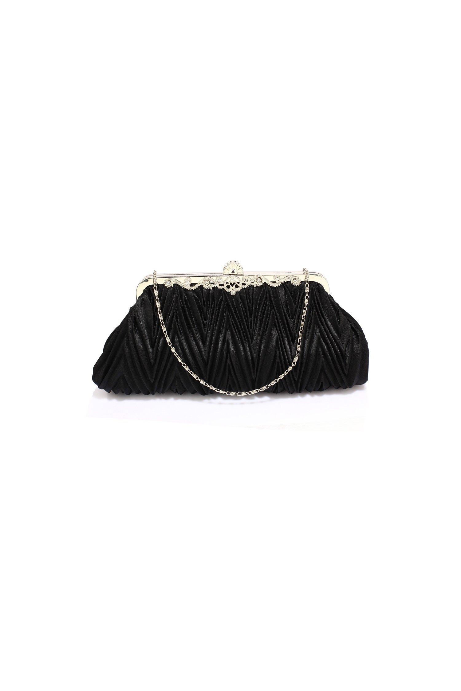 Poseta de seara Electra neagra eleganta