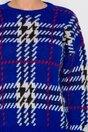 Pulover Adi albastru cu imprimeu picior de cocos