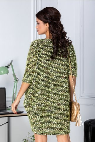 Rochie Dany tricotata verde