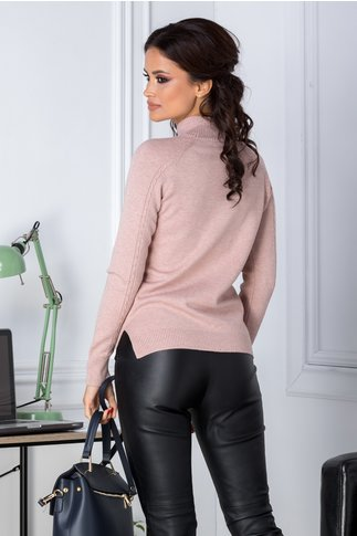 Pulover Emy rose nude casual