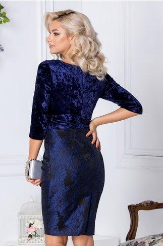 Rochie Abena bleumarin cu imprimeu floaral