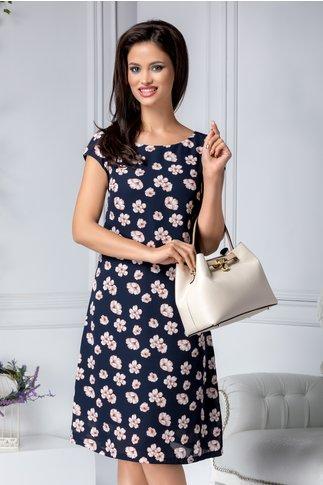 Rochie Adelaide bleumarin cu floricele