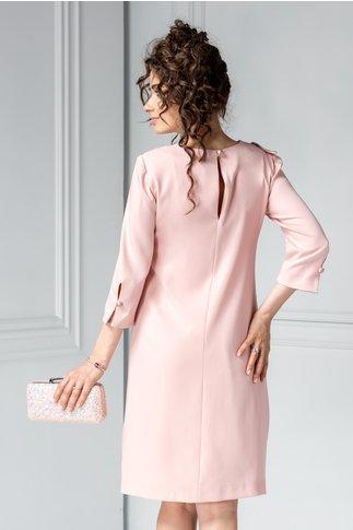 Rochie Alecia roz cu perle sidefate