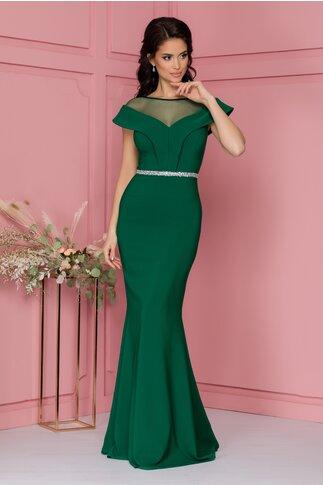 Rochie Aleka verde lunga tip sirena