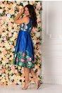 Rochie Alexia albastra cu imprimeu floral