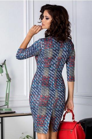 Rochie Alicya conica cu imprimeu divers colorat