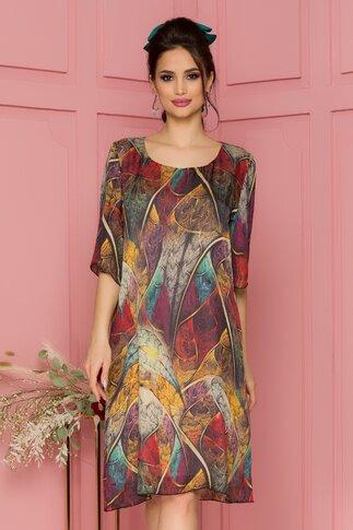 Rochie Alis cu imprimeu multicolor