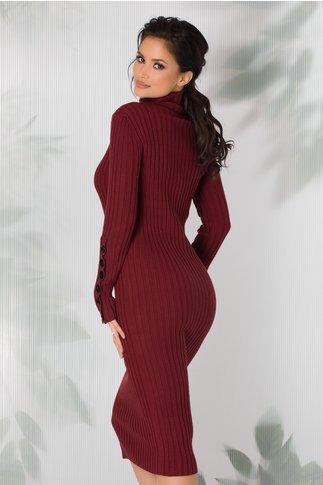 Rochie Amabelle bordo tricotata