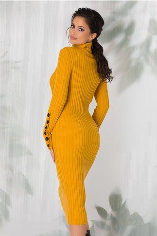 Rochie Amabelle galben mustar tricotata