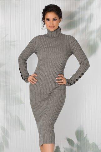 Rochie Amabelle gri tricotata