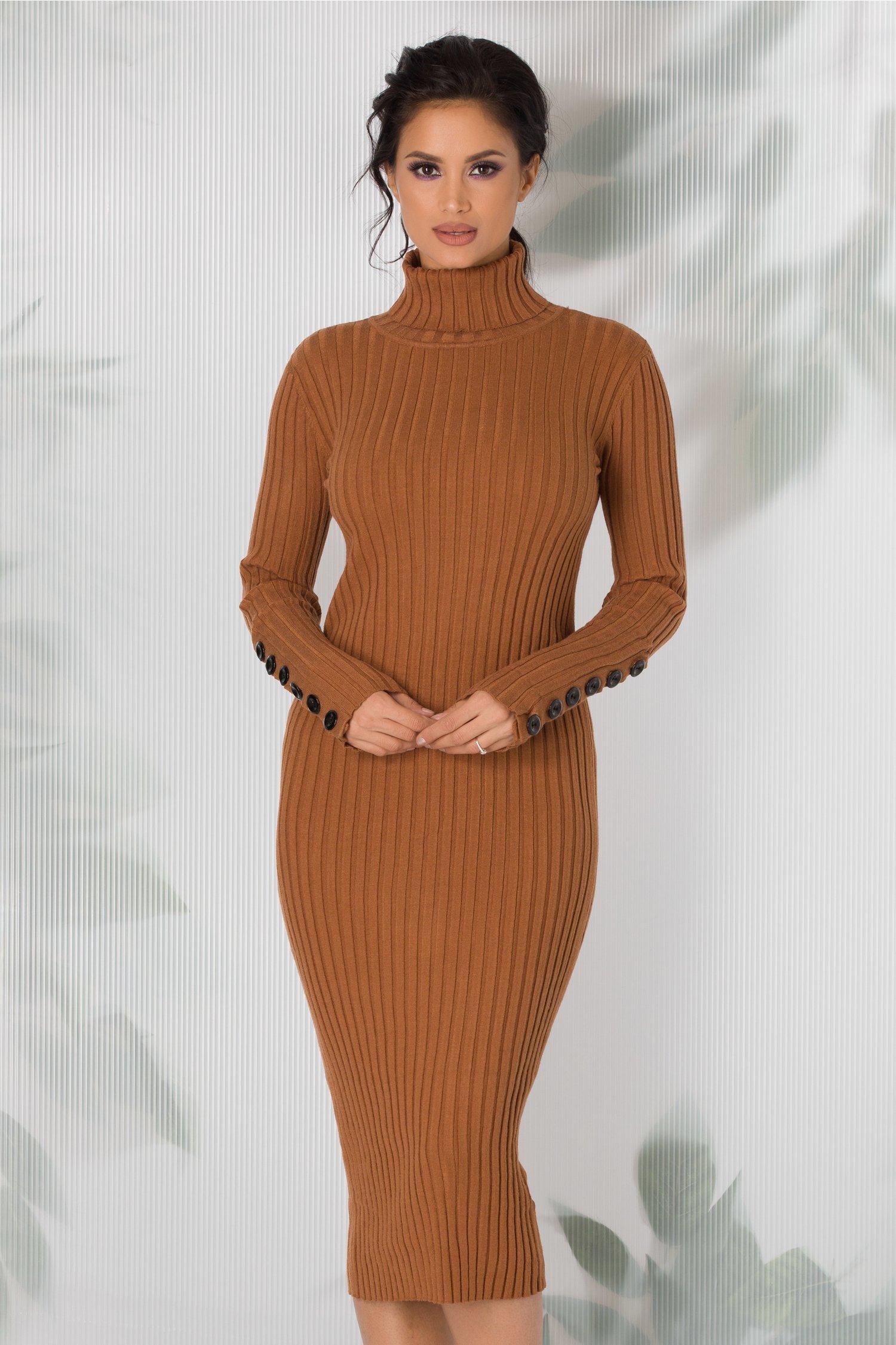 Rochie Amabelle maro tricotata