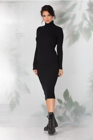 Rochie Amabelle neagra tricotata