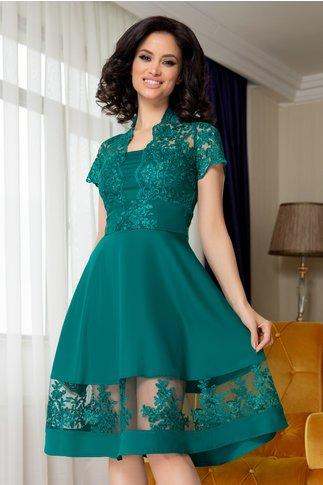 Rochie Amber verde cu dantela