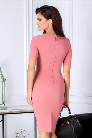 Rochie Aminia roz conica eleganta