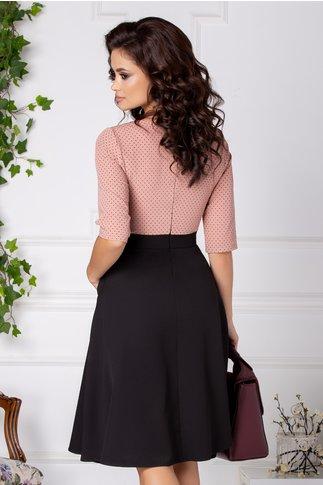 Rochie Anaisa clos negru si roz cu buline