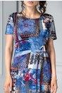 Rochie Anania albastra cu imprimeuri de zi