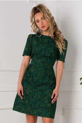 Rochie Anastasia verde cu imprimeu in degrade