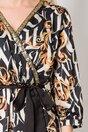 Rochie Andreea neagra cu imprimeu bej divers