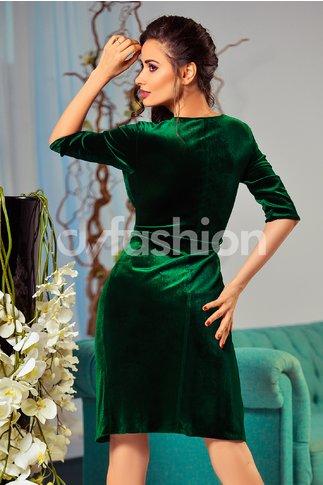 Rochie Anissa Verde de Ocazie din Catifea
