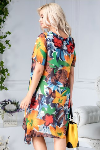 Rochie Anita vaporoasa cu flori mari colorate