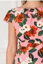 Rochie Arabella roz cu imprimeu floral