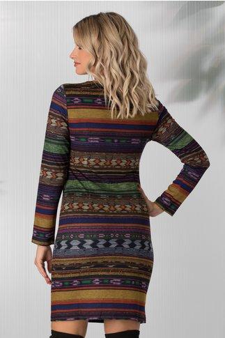 Rochie Aria multicolora cu imprimeu abstract