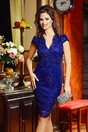 Rochie Ariela Bleumarin din Broderie de Seara