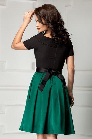 Rochie Artista Aimee negru cu verde de ocazie