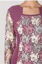 Rochie Beatrice lila cu dantela