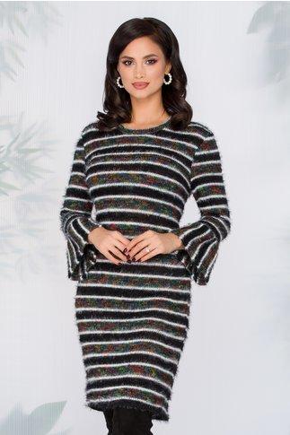 Rochie Beverly  multicolora tip tricot cu maneci clos