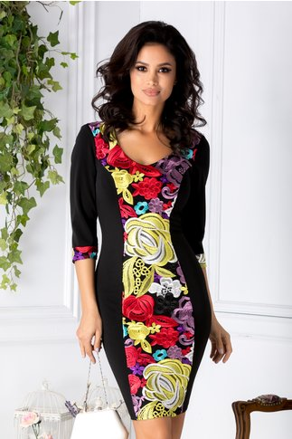 Rochie Black Flower