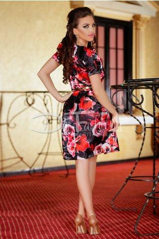 Rochie Black Red Tulip