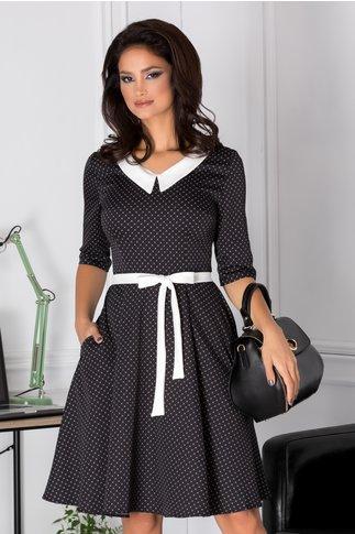Rochie Blanca clos neagra cu imprimeuri albe