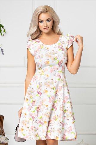 Rochie Blossom alba de vara cu imprimeu floral