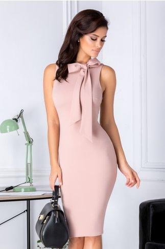 Rochie Bonnie roz pudrat conica eleganta