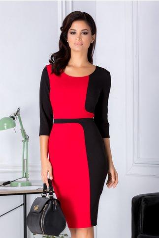 Rochie Brena negru cu rosu
