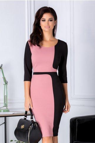 Rochie Brena negru cu roz