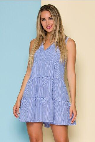 Rochie Brianne cu dungi alb-albastre