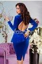 Rochie Bright Albastra de Ocazie din Catifea