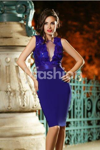 Rochie Brigita Albastra de Seara Eleganta