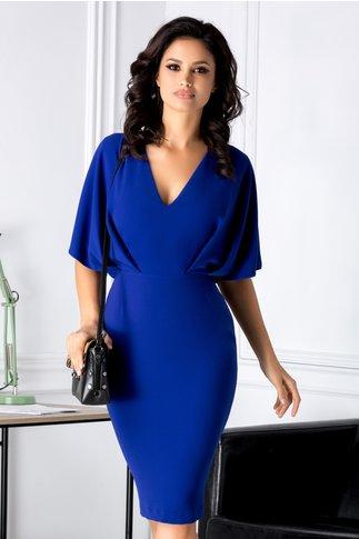 Rochie Brise albastra conica office